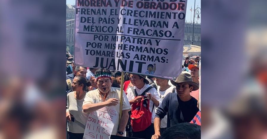"""Reaparece Rafael Acosta 'Juanito' y amenaza a AMLO con tomar las armas; """"AMLO llevará a México al fracaso"""", dice."""
