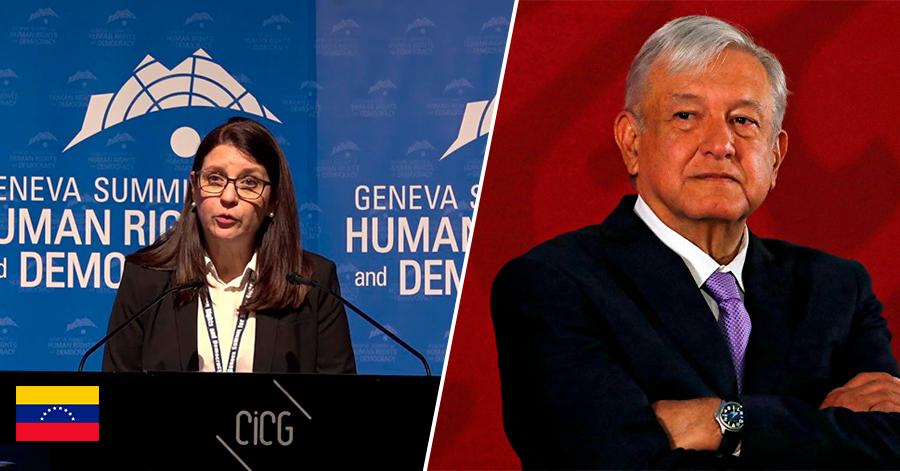 """""""Decepciona que AMLO le esté dando la espalda al sufrimiento de los venezolanos"""": embajadora de Guaidó en Suiza"""