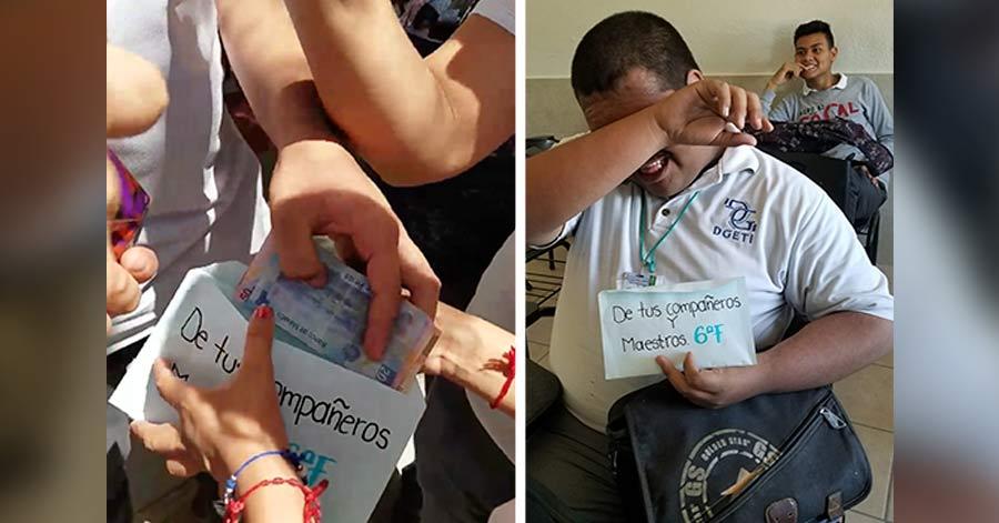 VIDEO: Estudiantes donan su dinero de las becas de AMLO a joven de escasos recursos; llora de la emoción