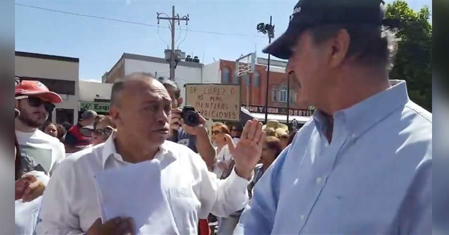 VIDEO: Expulsan a Fox de marcha que él mismo promovió contra AMLO.