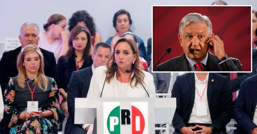 """El PRI le advierte a AMLO que lo estarán vigilando """"para evitar un retroceso en el país"""""""