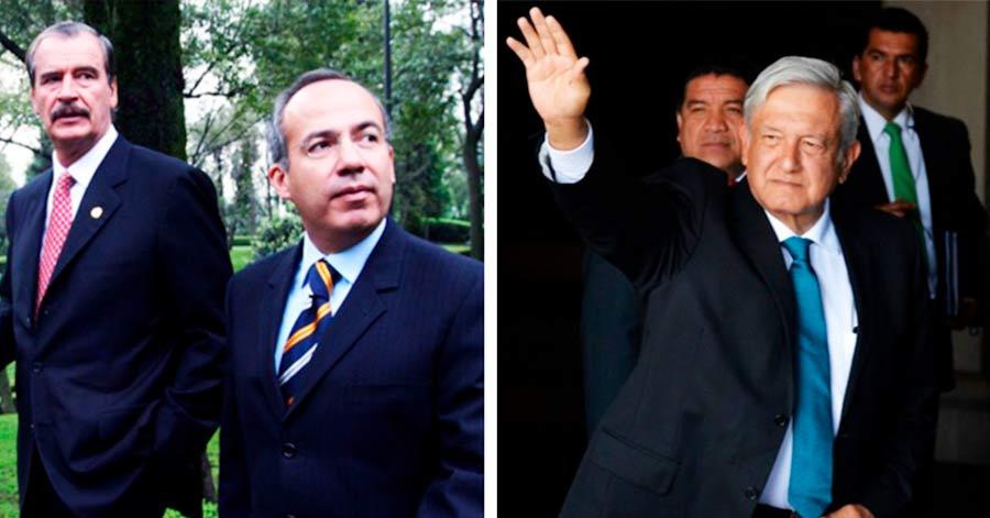 Mexicanos exigen que se les retiren los escoltas a Fox y Calderón.